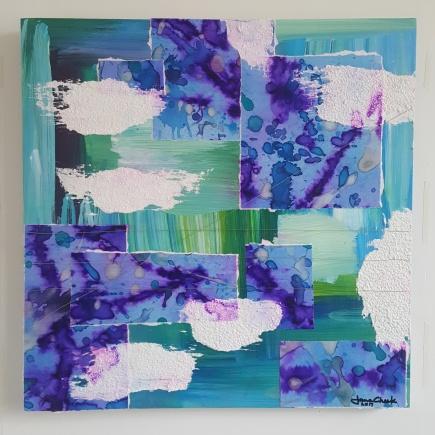 """Blue Brush Collage"""