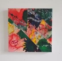 """Rainbow Splash. Collage"""