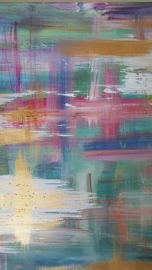 """Details of Impressionist Expressions"" modern abstract expressionist painting details by artist Jane Cheek"